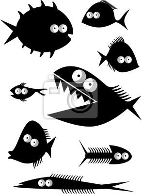 Набор смешных рыб