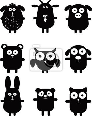 Набор Веселые векторные Животные