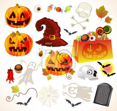 Набор элементов дизайна Хэллоуин