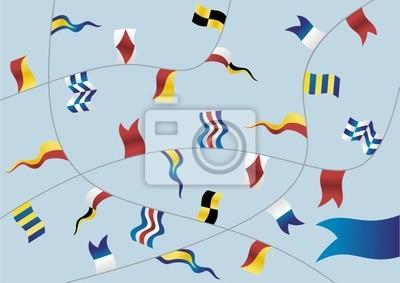 Набор морских флагов.