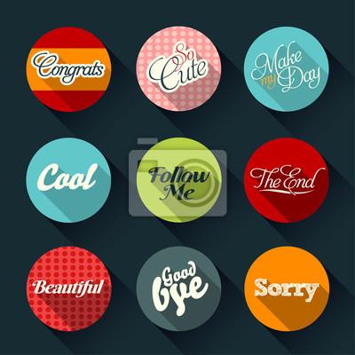 Набор ретро карт и векторных этикеток с логотипами
