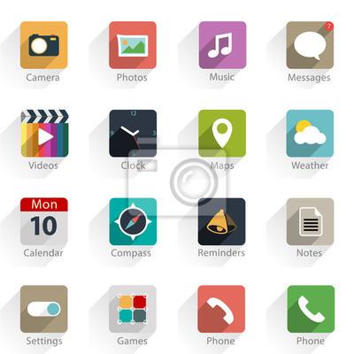 Набор векторных приложений веб-иконы и логотипов