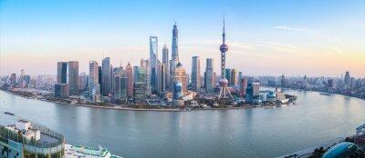 Картина shanghai skyline panoramic view