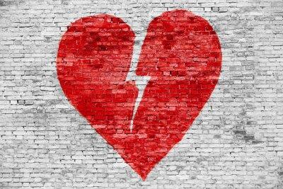 Картина Форма разбитого сердца