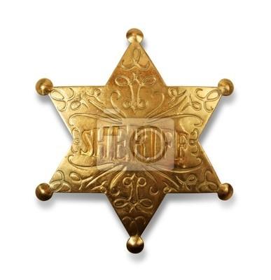 Шериф значок с пути