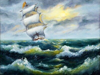 Картина Корабль в океане