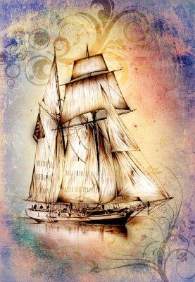 Картина Корабль с изображением моря или океана
