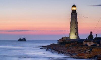 Картина Корабль стойки и маяк
