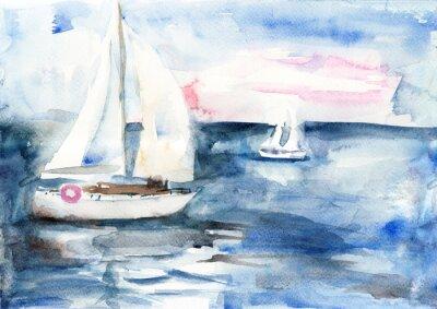 Картина Корабли в море