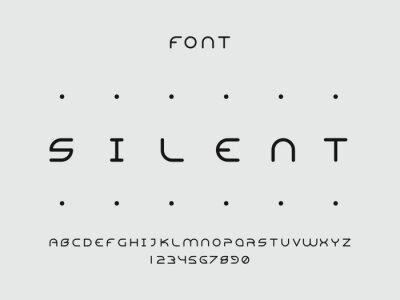 Silent font. Vector alphabet