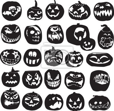 силуэты Хэллоуин тыква
