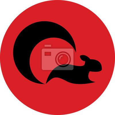 Простой логотип с цветным фоном