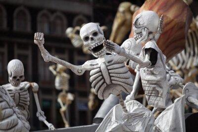 Картина Скелеты традиционной День мертвых, Мексика