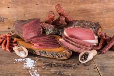 Картина Копченые мясные и колбасные изделия