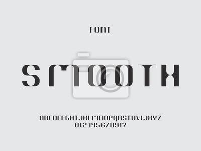 Smooth font. Vector alphabet