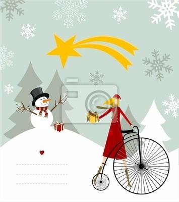Снеговик и Вифлеемская звезда карты.