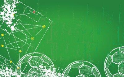 Картина Футбол / Футбол шаблон, бесплатный экземпляр пространства, вектор