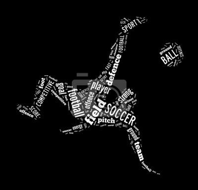 Картина Футбол, футболист ударом форму слово облако