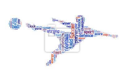 Картина Футбол слово облако, футбол фон типографика