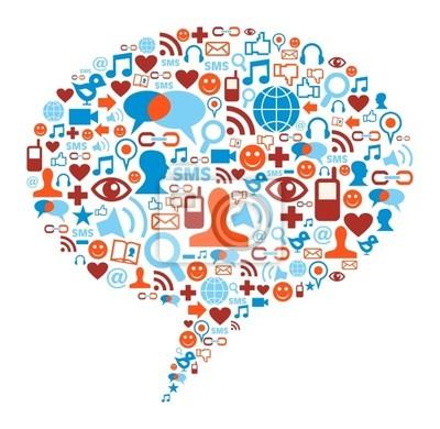 Социальные медиа Концепция пузырь