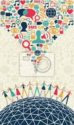 Социальные медиа люди концепции