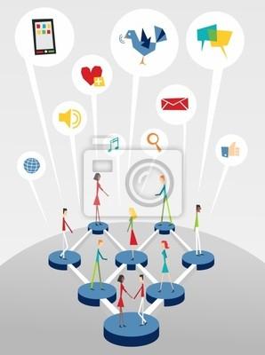 Социальный веб сетей интерактивного