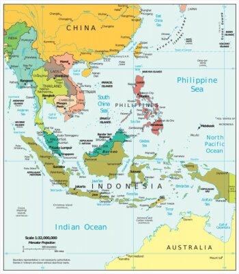 Картина Юго-Восточная Азия политические разногласия