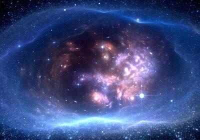 Картина Космический фон с туманности и звезды
