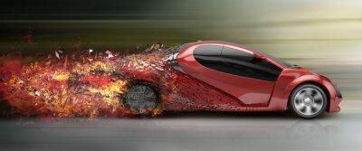 Картина превышение скорости автомобилей распадаемости