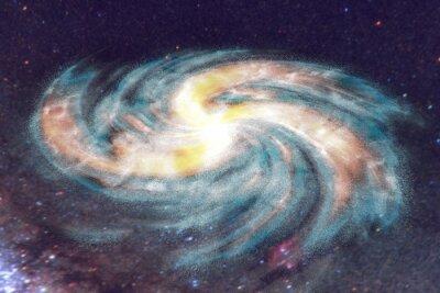 Картина Спиральная галактика на фоне пространства со звездами