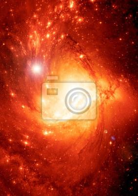 Картина Звезда поле в пространстве и туманностей