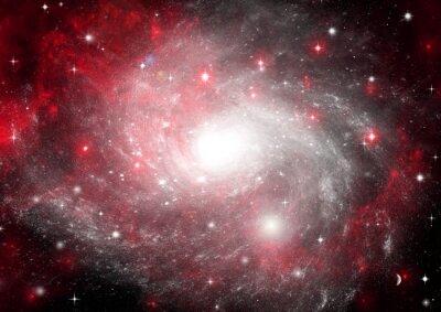 Картина Звезда полей в пространстве и туманностей в