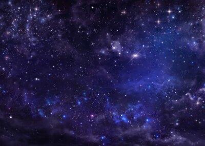 Картина звездное ночное небо глубокий космос