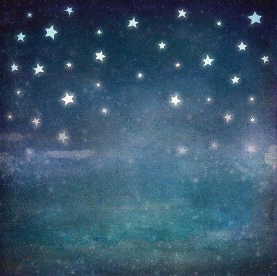 Картина Звезды на небе ночью гранж, фон