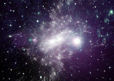 Картина Звезды, пыли и газа туманности в далекой галактике