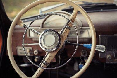 Картина рулевое управление ретро автомобиль