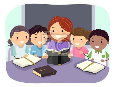 Stickman Kids Учитель изучения Библии