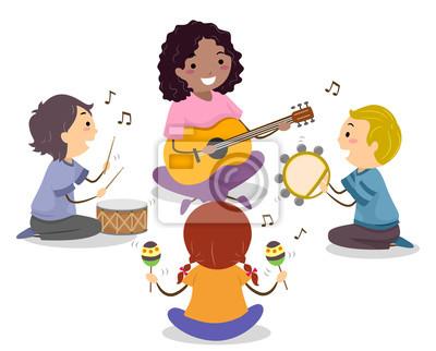 Stickman Kids Teacher Play Музыкальный кружок