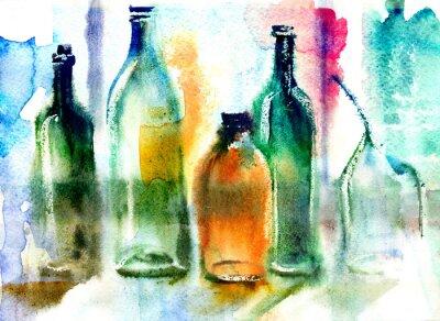 Картина Натюрморт различных бутылок