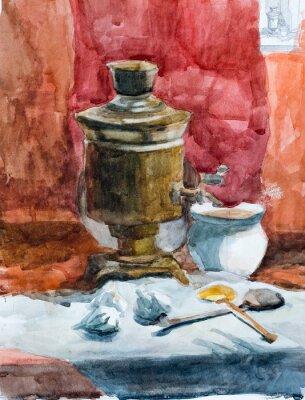 Картина Натюрморт, акварель рисунок