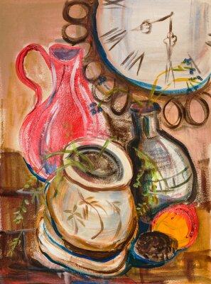 Картина Натюрморт с красным кувшином