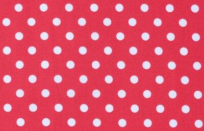 Картина Ткань Рот Вайс Textur Punktmuster