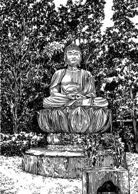 Картина Каменный Будда