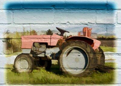 Картина Уличное искусство, Tracteur Agricole