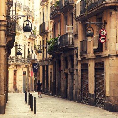 Картина Улица в готическом квартале Барселоны.