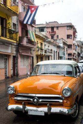 Картина Уличная сцена на черный день в Гаване, Куба