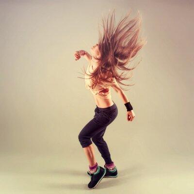 Картина Студия стрелять из активного женского фанк джаз танцор перемещения.