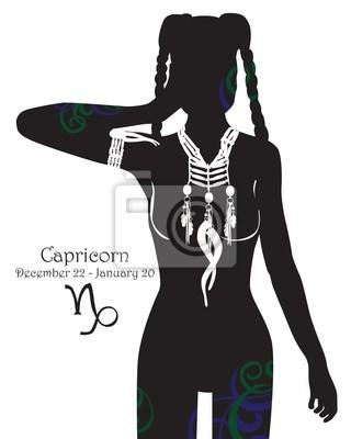 Стилизованный знак зодиака Козерог