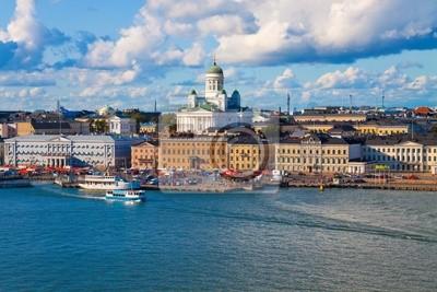 Лето панорама Хельсинки, Финляндия