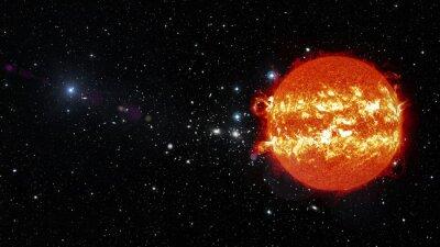 Картина Солнце в космическом пространстве. Элементы этого изображения, предоставленную NASA